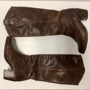 FRYE Jackie Button Knee-High Leather Boots